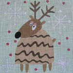 Ewe And Ewe EWE-23 Doug 10 1/2 x 10 3/ 4 13 Mesh Reindeer