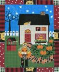 Ewe And Ewe EWE-168 Great Pumpkin Cat@Donna Pekins 9 x 11 18 Mesh