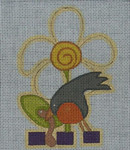 Ewe And Ewe EWE-203 Spring Robin@Patti Connor  4 1/2 x 5 1/4 18 Meshn