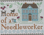 Ewe And Ewe EWE-446 Home of a Needleworker@Liftle House Needleworks 9 1/2 x 7 5/8 13 Mesh