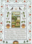 Ewe And Ewe EWE-450 Thirteen Golonies@Little House Needleworks9 7/8 x 14 18 Mesh