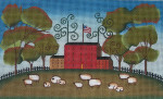 Ewe And Ewe EWE-456 Sheep Farm@Mary Beth Baxter 9 3/4x6 18 Mesh