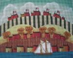 Ewe And Ewe EWE-457 Hills & Boat@Mary Beth Baxter  9 1/2 x 7 1/2 18 Mesh