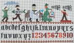 Ewe And Ewe EWE-460 Ode to the Newspaper@Canidge House Samplings 13 1/2 x 7 1/4 13 Mesh