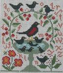 Ewe And Ewe EWE-462 Birdie Bath@Carriage House Samplings 5 x 6 13 Mesh