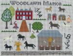 Ewe And Ewe EWE-464 Woodlawn Manor@Carriage House Samplings 12 1/2 x 9 1/2 13 Mesh