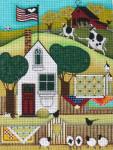 Ewe And Ewe EWE-471 Quilts On Fence@Blakely Wlson 9 1/8 x 12 18 Mesh