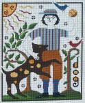 Ewe And Ewe EWE-476 Jeremiah@Carriage House Samplings 8 1/2 x 10 3/8 18 Mesh