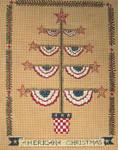 Ewe And Ewe EWE-479 Americana Christmas@Karen Cruden '11x14 18 Mesh