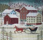 Ewe And Ewe EWE-481 Winter Farm Fun@Karen Cruden 11x10  18 Mesh