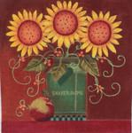 Ewe And Ewe EWE-484 September Flowers@Karen Cruden 9 3/4 x 9 3/4 18 Mesh