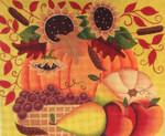 Ewe And Ewe EWE-492 Autumn Harvest Karen Cruden 11 x 9 1/4 18 Mesh