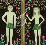 Ewe And Ewe EWE-238 Adam & Eve@Carriage House Samplings 11 1/2 x 11 18M