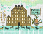 Ewe And Ewe EWE-240 Black Horse lnn@Cariage House Samplings 12 1/4 x 91/2 18M