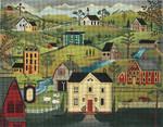 Ewe And Ewe EWE-260 Villagel Scene@Karen Cruden 12 1/2 x 9 18M