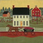Ewe And Ewe EWE-262 Apple Cart@Karen Cruden 10 1/2 x 10 1/2  18M