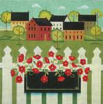 Ewe And Ewe EWE-263 Town With Flower Box@Karen Cruden 10 1/2 x 10 1/2  18M