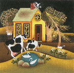 Ewe And Ewe EWE-287 Gold House@Blakely Wilson 6 x 6 18M
