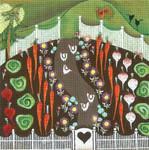 Ewe And Ewe EWE-298 Chickens in the Garden@Blakely Wlson 10x 10 18 Mesh