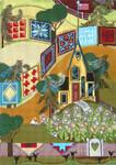 Ewe And Ewe EWE-300 Love Blooms Here@Blakely Wilson 9 x 12 5/8 18 Mesh