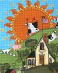 Ewe And Ewe EWE-302 Sunrise@Blakely Wilson 9 x 11 1/4 18 Mesh