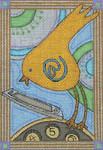 Ewe And Ewe EWE-308 Calling Bird@Patti Connor 4 x 6 18 Mesh