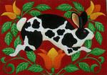 Ewe And Ewe EWE-322 Folk Rabbit@stephanie Stouffer/Ruth Levison Designs 9 3/4 x 7 18 Mesh