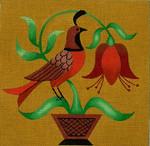 Ewe And Ewe EWE-324  Folk Bird 2@stephanie Stouffer/Ruth Levison Designs 7 x 7 18 Mesh