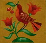 Ewe And Ewe EWE-325 Folk Bird 3@stephanie Stouffer/Ruth Levison Designs 7 x 7 18 Mesh