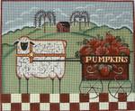 Ewe And Ewe EWE-360 Sheep with Pumpkin Cart@Karen Cruden 11 x 9 18 Mesh