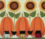 Ewe And Ewe EWE-361 Mighty Big Pumpkins@Karen Cruden 12 x 10 1/4 18 Mesh