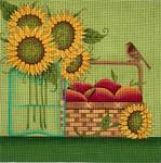 Ewe And Ewe EWE-362 Sunflower Apples@Karen Cruden 10 1/2 x 10 1/2  18 Mesh