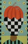Ewe And Ewe EWE-373KB Pumpkin  In Flower Vase 9 1/4 x 14 1/4 13 Mesh