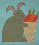 Ewe And Ewe EWE-389KB Rabbit & Carrots 11 1/2 x 13 18 Mesh