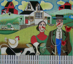Ewe And Ewe EWE-394 American Gothic@Blakely Wilson 10 x 8 3/4 18 Mesh
