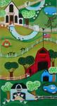 Ewe And Ewe EWE-396 Farm Country@Blakely Wilson 8 x 15 18 Mesh