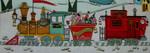 Ewe And Ewe EWE-397 Santa Claus Express@Blakely Wilson 19 1/2 x 7 18 Mesh