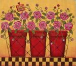 Ewe And Ewe EWE-412 Pink Roses@Karen Cruden  12 x 10 1/2 18 Mesh