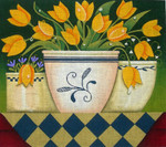 Ewe And Ewe EWE-413 Yellow Tulips@Karen Cruden 12 x 10 1/2 18 Mesh
