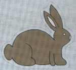 Ewe And Ewe EWE-422 New Chocolate Bunny 7 1/2 x 7 18 Mesh