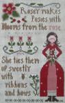 Ewe And Ewe EWE-424 Rosey@Little House Needleworks 6 5/8 x 10 3/8 13 Mesh