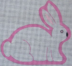Ewe And Ewe EWE-422B New White Chocolate Bunny 7 1/2 x 7 18 Mesh