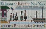 Ewe And Ewe EWE-430 Coming To America@Little House Needleworks 12 3/8 x7 7/8 13 Mesh