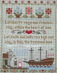Ewe And Ewe EWE-431 Mayflower Landing@Litte House Needleworks 7 3/4 x 9 7/8 18 Mesh