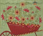 Ewe And Ewe EWE-434 Shaker Farms Wheelbarrovrr@Karen Cruden 10 x 8 1/2 18 Mesh
