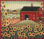 Ewe And Ewe EWE-436 Sunflower Farm@lKaren Cruden 10 x 8 3/4 18 Mesh