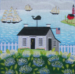 Ewe And Ewe EWE-439 Summer At the Shore@Karen Cruden 10 x 10 18 Mesh