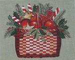 Ewe And Ewe EWE-440 Holiday Basket@Mary Beth Balder 11 x 8 3/4 18 Mesh
