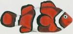 DENISE DeRUSHA DESIGNS DD-11 Clownfish 11 1/2 x 6 18 Mesh