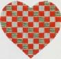 DENISE DeRUSHA DESIGNS DD-112 Red Check Heart 8 x 8 18 Mesh